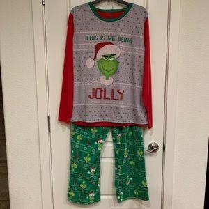 Plus Size Christmas Grinch Pajama Set